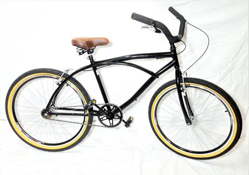 bicicleta aro 26 retro vintage beach bike c/ pneu de faixa