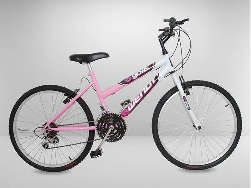 bicicleta aro 26 rosa 18 marchas - pedaleagora