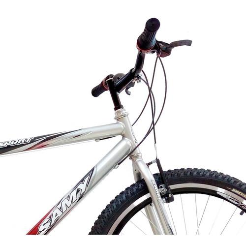 bicicleta aro 26 samy masculina 18 marchas c/ aros aero
