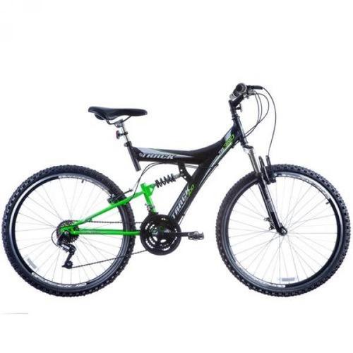bicicleta aro 26 tb300 18 marchas preto/verde track & bikes