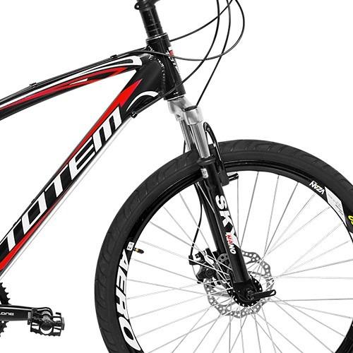 bicicleta aro 26 totem envoy 21 marchas kit shimano disco