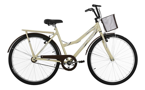 bicicleta aro 26 tropical summer bege/marrom ultra bikes