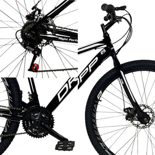 bicicleta aro 29 dropp bikes em aço 21v marchas freio disc