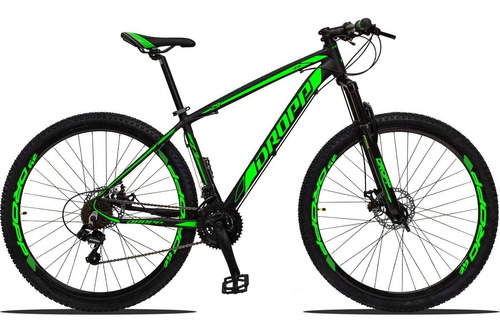 bicicleta aro 29 dropp z3 câmbio shimano 21 vel freio discos