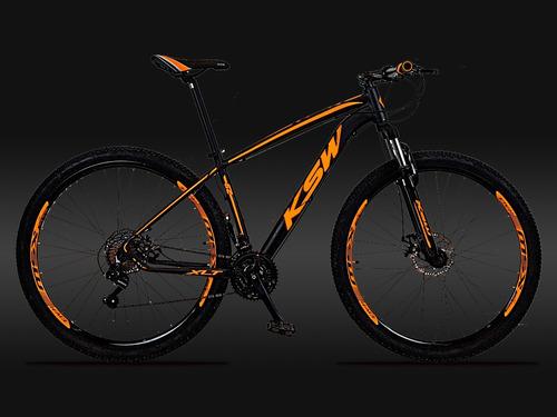 bicicleta aro 29 ksw câmbio shimano 24v freio hidráulico