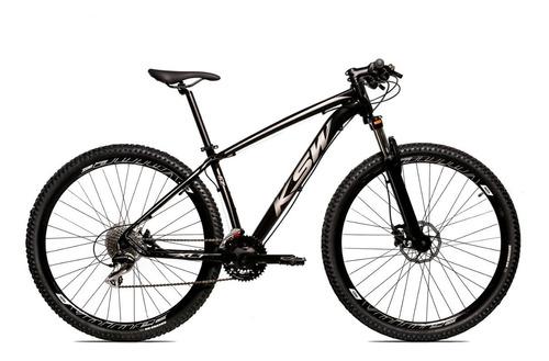 bicicleta aro 29 ksw shimano 27vel freio hidráulico promoção