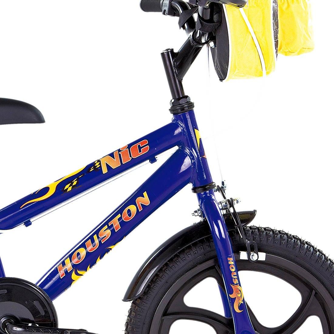 3b18375da Carregando zoom... aro houston bicicleta. Carregando zoom... bicicleta aro  16 houston nic azul com bolsa e capacete