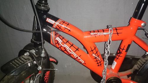 bicicleta aurora aurorita rod.12 niños mod.spider impecable!