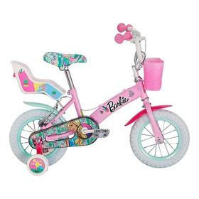 Bicicleta Barbie Niña Rodado 12 Color Rosado