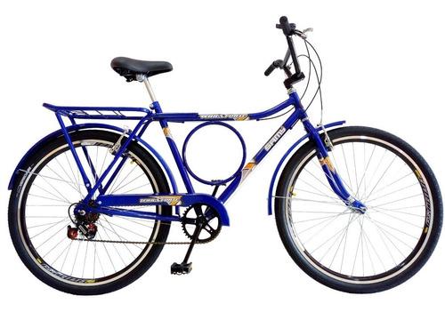 bicicleta barra forte samy c/ 6 marchas c/ aros aero