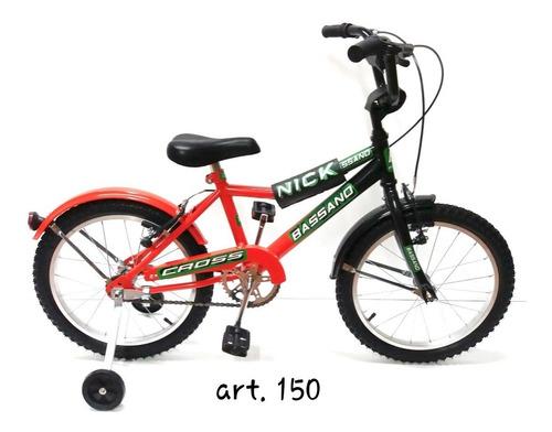 bicicleta bassano cross niño rodado 16