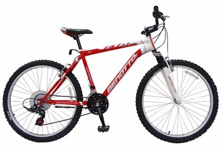 bicicleta benotto 747 fs r26 18v.light