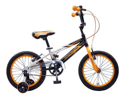 bicicleta benotto agressor r16 para niños ruedas laterales