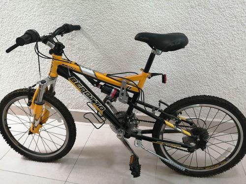 bicicleta benotto color amarillo con negro