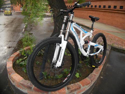 bicicleta benotto doble suspensión disco hidrauldico downhil
