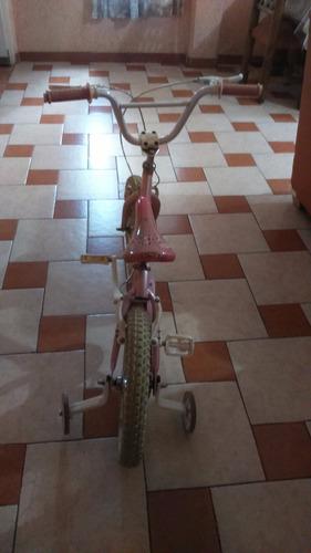 bicicleta benotto rosa r16 flower power niña