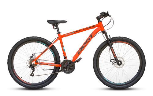 bicicleta best cygnus aluminio aro 27,5  talla 17 naranja