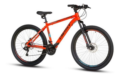 bicicleta best cygnus aluminio aro 27,5  talla 18 naranja