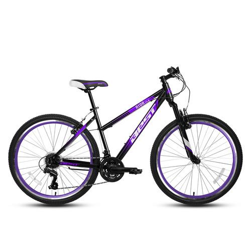 bicicleta best de mujer aida aro 24 negro/morado