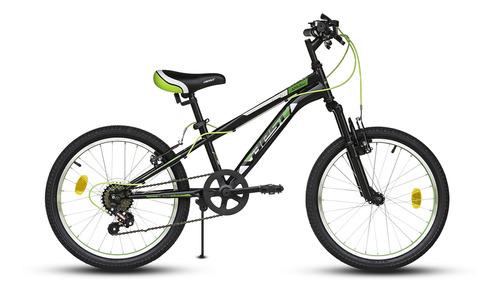 bicicleta best de niño apolo 20  negro/verde