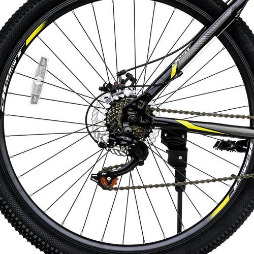 bicicleta best mtb trivor 27.5  21v negro/amarillo