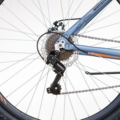 bicicleta best otis aluminio aro 29  talla 17 celeste