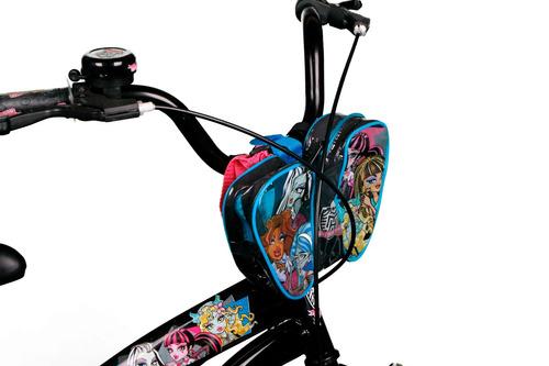 bicicleta bianchi monster high aro16 color negra