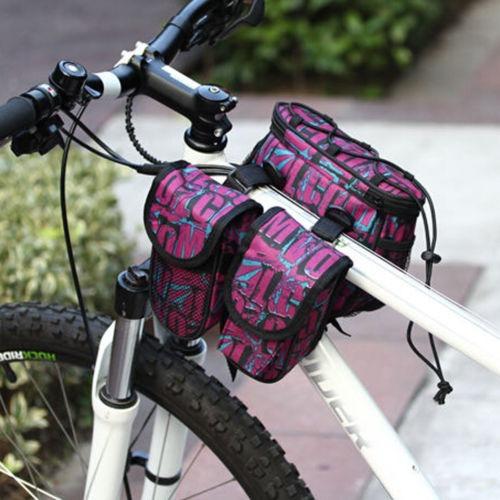 bicicleta bici ciclismo marco frontal tubo alforjas alforja