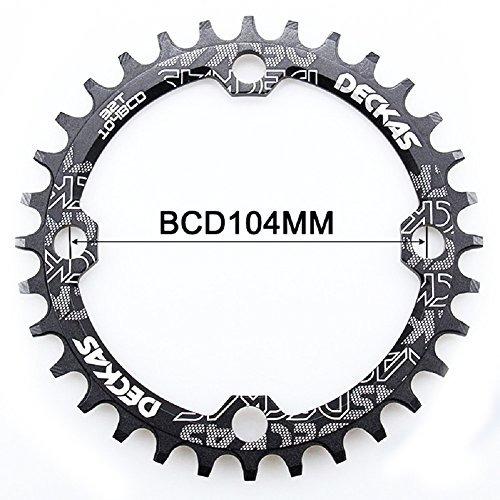 bicicleta bicicleta gear pedivela (negro, ronda 34t) bielas