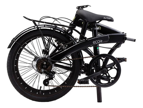 bicicleta bike dobrável aro 20 6 marchas preta durban eco+