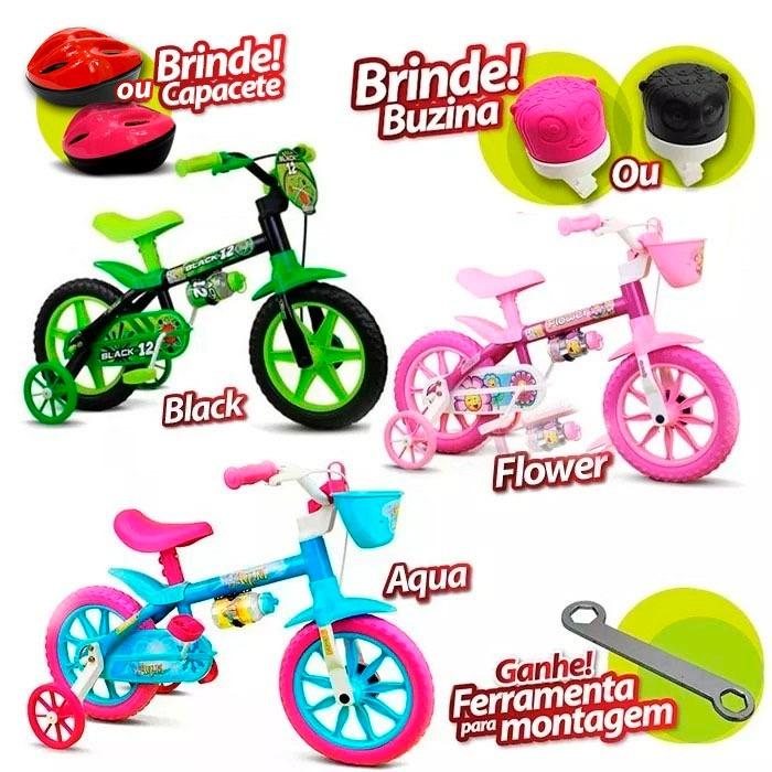 7c934d8c2 Bicicleta Bike Infantil Menina Menino Capacete Buzina Oferta - R ...