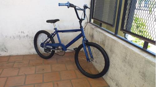 bicicleta bmx azul rodado 20 para nene lista para usar