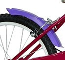 bicicleta bmx de nena, rodado 20, con canasto, pioneer