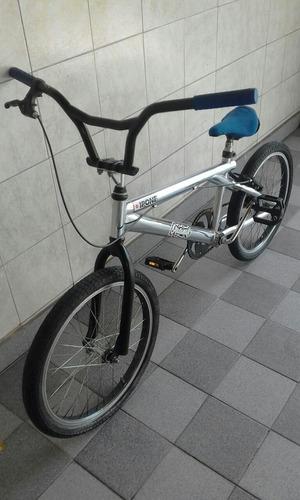 bicicleta bmx freestyle rodado 20 cromada