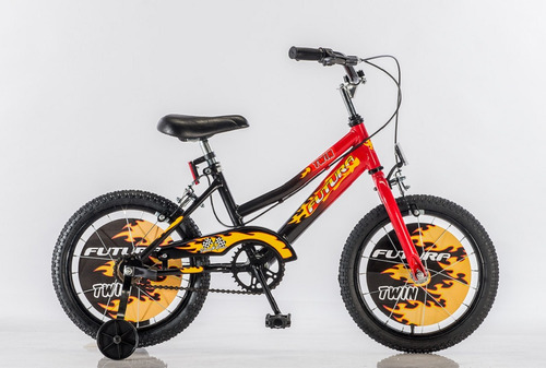 bicicleta bmx r16 twin nene rued 4050 + envío sin cargo caba
