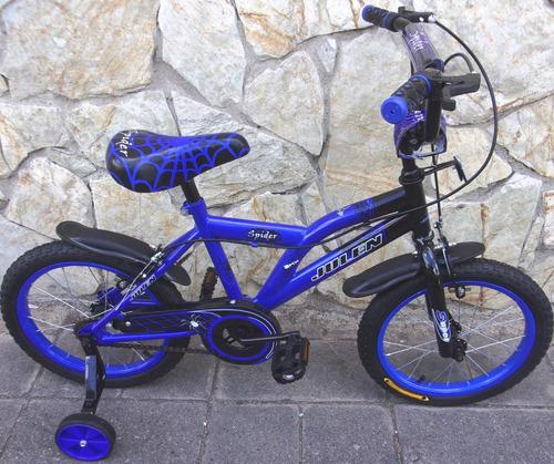 bicicleta bmx  spaider blue aro 16 2019