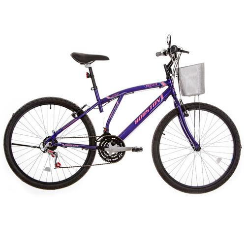 bicicleta bristol lance 21 marchas v-brake violeta - houston