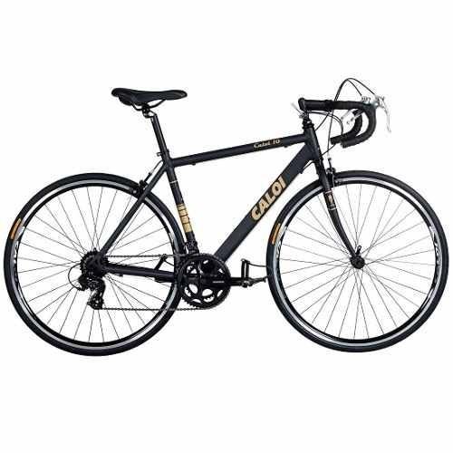 bicicleta caloi 10 aro 700 preta/dourada - caloi  bike vip