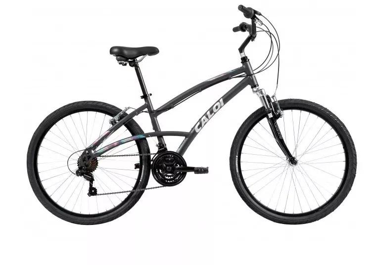 3ebdd8c4c Bicicleta Caloi 500 Feminina Preto Fosco - R  1.280