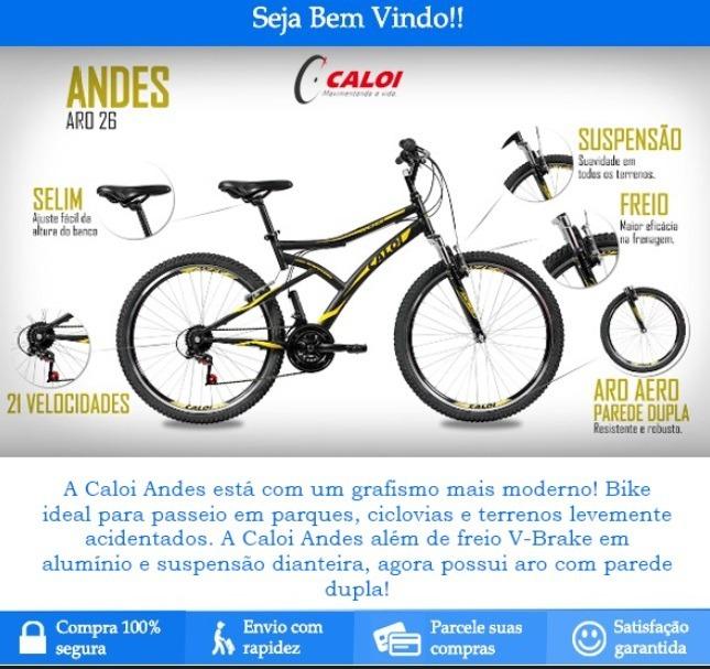 Bicicleta Caloi Andes Aro 26 - Promoção Black Friday - R  657 e2f787af997c2