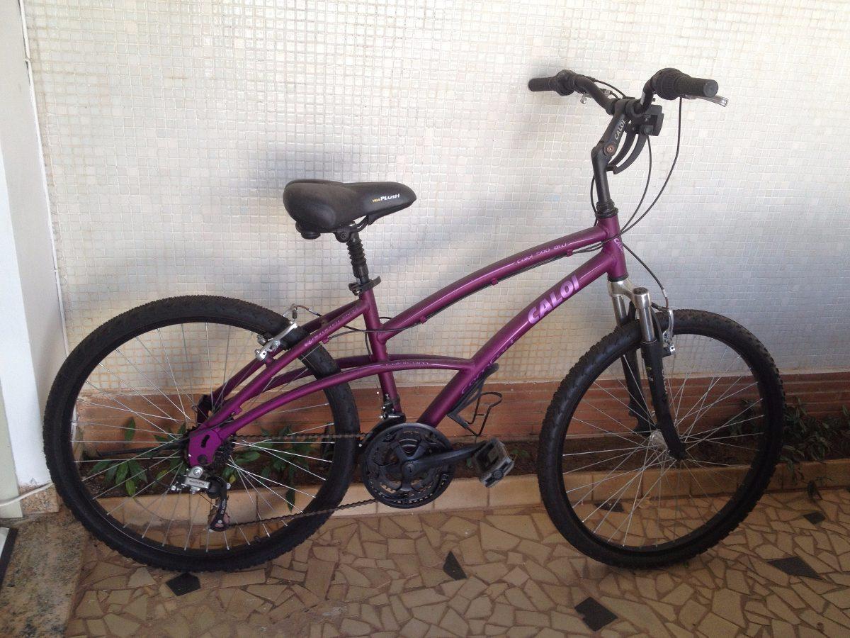 4d57aebcc Bicicleta Caloi 500 Feminina Aro 26 Aluminio 21 Shimano Roxa - R ...
