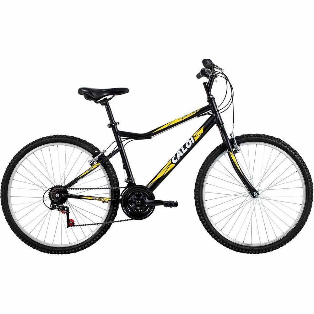 0aba01552 bicicleta caloi aspen aro 26 21 marchas mtb - preto amarelo. Carregando  zoom.