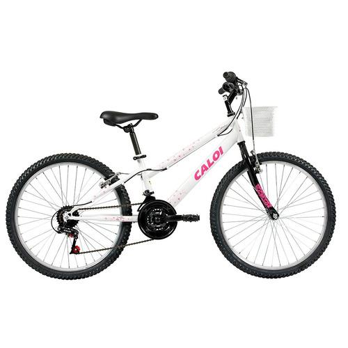 bicicleta caloi ceci aro 24, branca perolizado - caloi