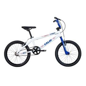 Bicicleta Caloi Cross Alumínio Aro 20 Branca E Azul A16