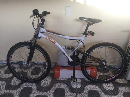 bicicleta caloi full suspension