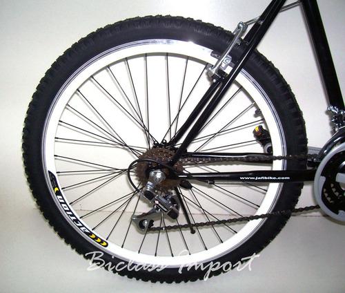 bicicleta c/amortiguador partes aluminio aro doble 18cambios