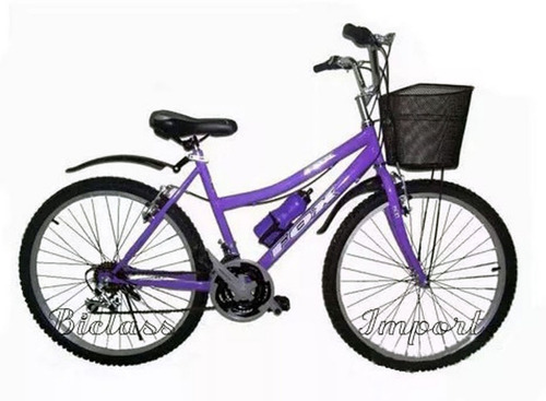 bicicleta campera dama canasta aro 24 18 v componente taiwan