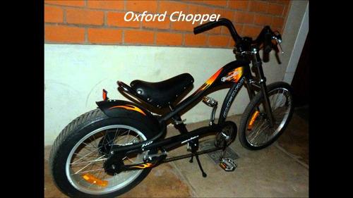 bicicleta chopper bike, marca oxford nueva en caja