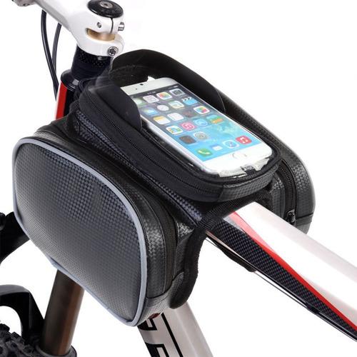 bicicleta ciclismo marco frontal tubo manillar bolsa