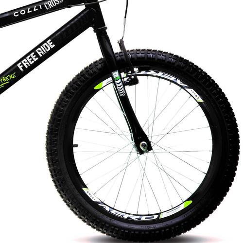bicicleta colli cross free ride a20 freios v-brake - 110.11